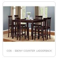 COS - EBONY COUNTER LADDERBACK